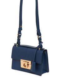 Ferragamo | Blue Small Aileen Smooth Leather Bag | Lyst