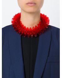 Mary Katrantzou | Red Ruffled Necklace | Lyst