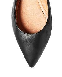 Steven by Steve Madden | Black Garnur Leather Flats | Lyst