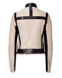 Narciso Rodriguez | Natural Black And Nude Persian Lamb Jacket | Lyst