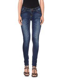 Vero Moda - Blue Denim Trousers - Lyst