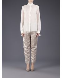 The Row | White Shelly Cotton-poplin Blouse | Lyst
