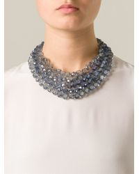 Night Market - Blue 'crystal Rain' Necklace - Lyst