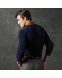 Ralph Lauren Purple Label - Blue Cable-knit Cashmere Sweater for Men - Lyst