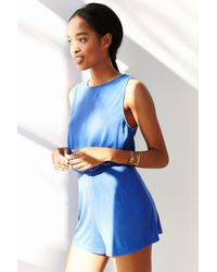 Silence + Noise - Blue Two Twisted Romper - Lyst