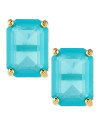 Kate Spade | Blue Emerald-cut Crystal Earrings | Lyst
