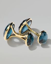 Ippolita | 18k Gold Lollipop 2stone Cuff Links in London Blue Topaz | Lyst