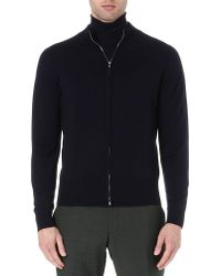 John Smedley | Black Lionel Wool Cardigan - For Men for Men | Lyst