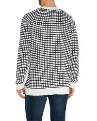 Paul Smith | Blue Pattern Crew Neck Pull Over Jumper for Men | Lyst