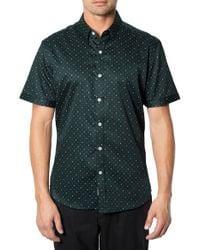7 Diamonds - Green 'the Key' Short Sleeve Button Front Shirt for Men - Lyst