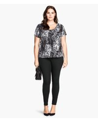 H&M - Black + Treggings - Lyst