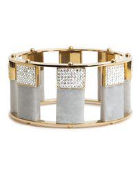 Lele Sadoughi | Metallic Pave Stackable Slider Bracelet, Steel Grey | Lyst