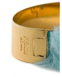 Fendi | Blue Mink Fur Bangle | Lyst