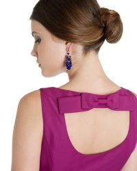 Ted Baker | Blue Beaded Cluster Earrings | Lyst