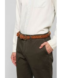 Urban Outfitters - Brown Braided Suede Belt for Men - Lyst