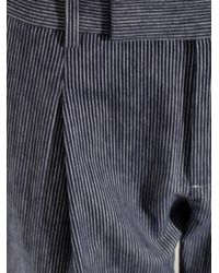 Vince - Blue Striped Cotton-Flannel Trousers - Lyst