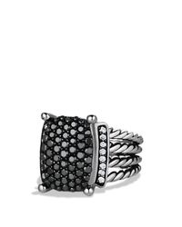 David Yurman | Metallic Wheaton Ring With Black & White Diamonds | Lyst
