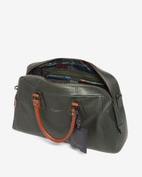 Ted Baker | Green Colour Block Leather Bowler Bag for Men | Lyst