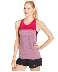 Nike | Red Dri-fit Knit Racerback Tank Top | Lyst