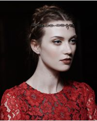Sabine G - Metallic Silver Plated Gold Diamond and Ruby Headpiece - Lyst