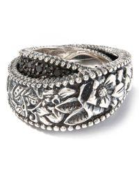 Stephen Dweck - Metallic Sterling Silver Kyoto Ring With Black Diamonds - Lyst