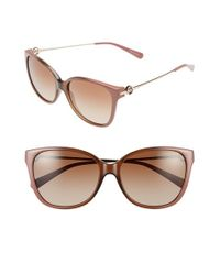 Michael Kors | Brown Collection 'glam' 57mm Retro Sunglasses | Lyst