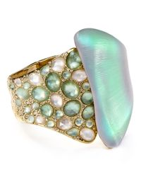 Alexis Bittar - Green Lucite Crystal Encrusted Hinge Cuff - Lyst