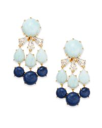 Lele Sadoughi | Blue Tropicana Havana Howlite & Marble Tri-drop Earrings | Lyst