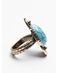 Free People | Blue Womens New Moon Ring | Lyst