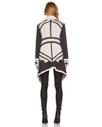 Line - White Montana Wrap Sweater - Lyst