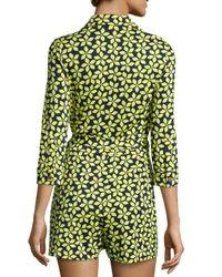 Diane von Furstenberg | Multicolor Celeste Floral Jersey Romper | Lyst