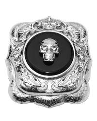 Alexander McQueen - Multicolor Currency Skull Brooch - Lyst
