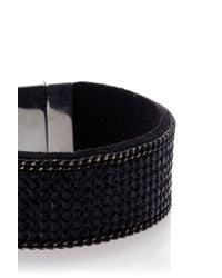 Oasis | Black Crystal Rocks Magnetic Wristwear | Lyst