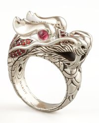 John Hardy - Metallic Naga Dragon Ring - Lyst