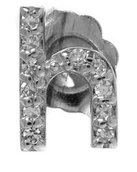 KC Designs | Metallic White Gold Diamond H Single Stud Earring | Lyst