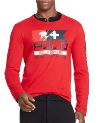 Polo Ralph Lauren   Red Ski Crewneck Shirt for Men   Lyst