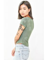 BDG - Green Daniel Washed Tee - Lyst