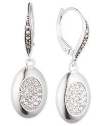 Judith Jack - Metallic Sterling Silver Marcasite And Crystal Drop Earrings - Lyst
