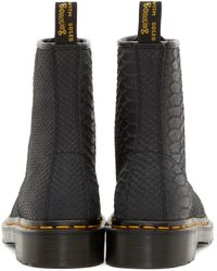 Dr. Martens | Black Python 8_eye 1460 Boots | Lyst