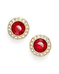 Givenchy | Red Halo Stud Earrings | Lyst