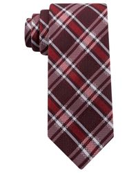 Kenneth Cole Reaction | Purple Party Plaid Slim Tie for Men | Lyst