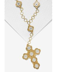 I Still Love You Nyc | Metallic Luxe Chain Cross Necklace | Lyst