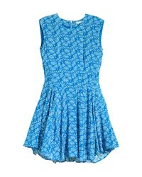 H&M - Blue Mama Frilled-sleeve Dress - Lyst