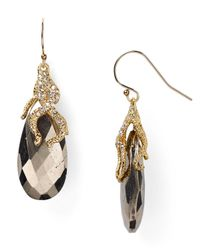 Alexis Bittar - Metallic Vine Capped Pyrite Earrings - Lyst