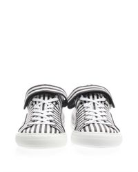 Pierre Hardy | Black Striped Leather Lowtop Trainers for Men | Lyst