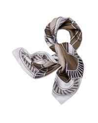 Tory Burch - White Canard-print Silk Square Scarf - Lyst