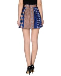 Alysi - Blue Mini Skirt - Lyst