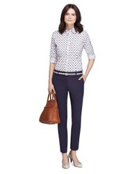Brooks Brothers | Blue Natalie Fit Italian Cotton Pants | Lyst