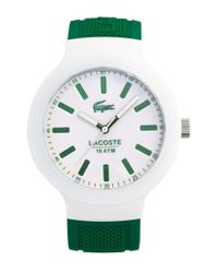 Lacoste | Green 'borneo' Silicone Strap Watch for Men | Lyst