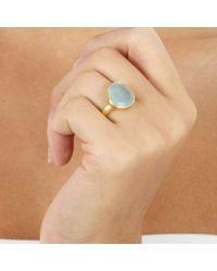 Pippa Small - Metallic Aquamarine Greek Ring - Lyst
